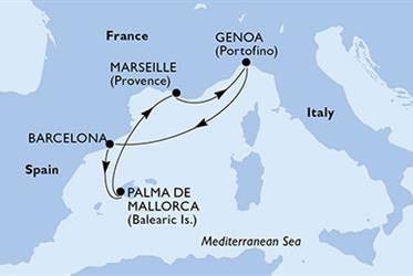 MSC Virtuosa - Španělsko,Francie,Itálie (z Barcelony)