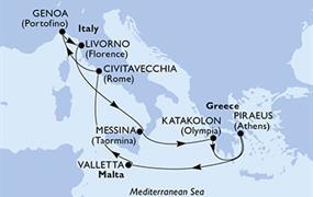 MSC Magnifica - Itálie,Řecko,Malta (Messina)