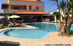 Bazén u vedlejšího hotelu k dispozici
