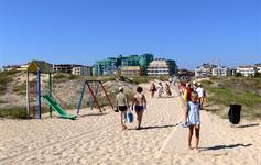 Severní pláž před hotelem