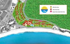 Mapa vilového areálu