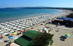 Jižní pláž v Primorsku