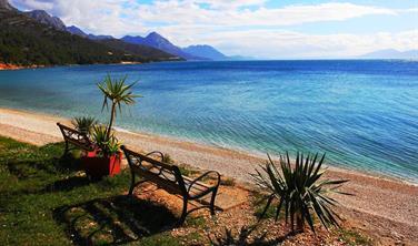 Luxusní klimatizovaný KARAVAN pro 5 osob, Makarská riviéra, Živogošče, kemp Boban Last Moment