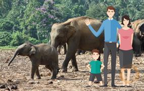 Na Srí Lanku s dětmi