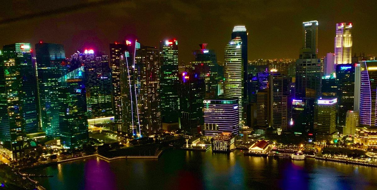 Seznamování míst v Singapuru v noci