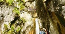 Medvědí soutěska v rakouských Alpách