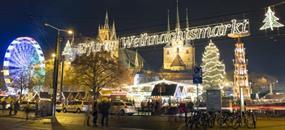 Adventní trhy ve městě kostelů a mostů - v Erfurtu