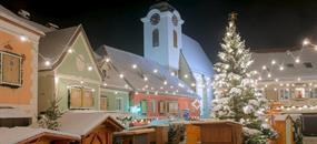 Adventní trhy v rakouském městě Vánoc - ve Štýru
