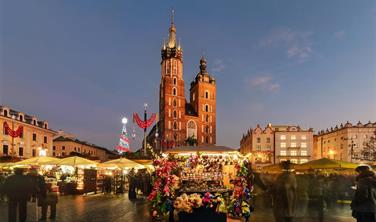 Adventní trhy v Krakově