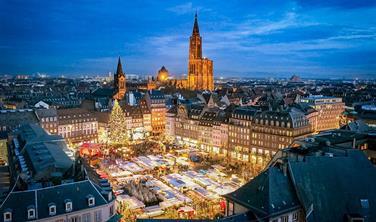 Adventní trhy ve francouzském Štrasburku