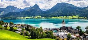 Jezero Wolfgangsee a historická železnice