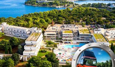 Zkrácená dovolená na Istrii v hotelu Delfin s bazénem a dopravou v ceně