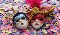 Valentýn v Benátkách během karnevalu