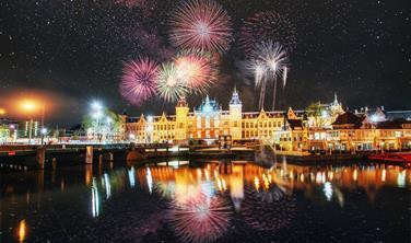 Silvestrovské oslavy v Amsterdamu