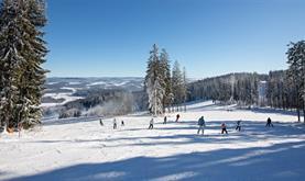 Skiareál Lipno - den na lyžích