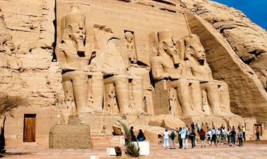 Symboly Egypta - Nil a pyramidy ****