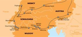 Rakousko, Itálie, Švýcarsko a Německo - Alpská cesta!
