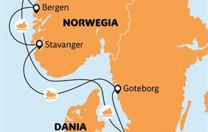 Plavba po norských fjordech - plenér Skandinávie