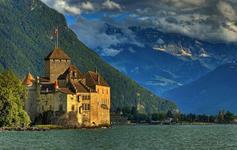 Švýcarskem pod Mt. Blanc
