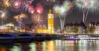 Silvestrovský Londýn s ohňostrojem včetně trajektu + sekt do páru ***