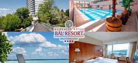 Balatonalmádi, Hunguest Hotel Bál Resort přímo u Balatonu s wellness a polopenzí