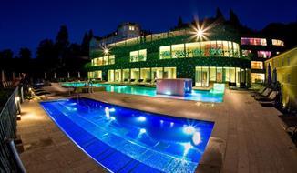 Rimske Toplice, nový hotel Rimski Dvor s wellness a římskými lázněmi