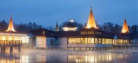 Hévíz, CE Quelle Hotel v blízkosti termálního jezera s wellness