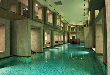 Rimske Toplice, hotel Sofijin Dvor s římskými lázněmi