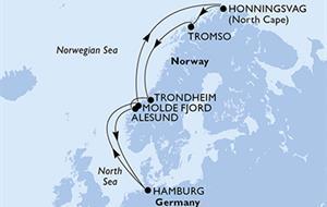 Německo, Norsko z Hamburku na lodi MSC Meraviglia