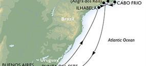 Argentina, Uruguay, Brazílie z Buenos Aires na lodi MSC Poesia
