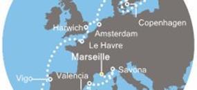 Francie, Itálie, Španělsko, Portugalsko, Nizozemsko, Dánsko, Švédsko z Marseille na lodi Costa Magica