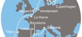 Itálie, Španělsko, Portugalsko, Francie, Nizozemsko, Dánsko, Švédsko ze Savony na lodi Costa Magica