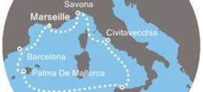 Francie, Španělsko, Itálie z Marseille na lodi Costa Diadema