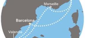 Itálie, Španělsko, Francie z Barcelony na lodi Costa Mediterranea