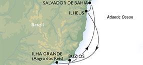 Krásy Brazílie ze Santosu na lodi MSC Preziosa