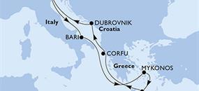 Itálie, Řecko, Chorvatsko z Benátek na lodi MSC Lirica