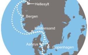 Německo, Dánsko, Norsko z Warnemünde na lodi Costa Favolosa