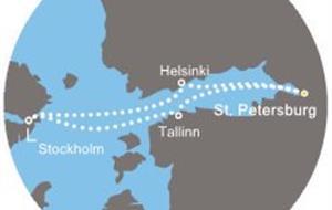 Rusko, Estonsko, Švédsko, Finsko z Petrohradu na lodi Costa Magica