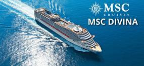 USA, Antigua a Barbuda, Svatý Kryštof a Nevis, Francie, Velká Británie, Nizozemsko z Miami na lodi MSC Divina