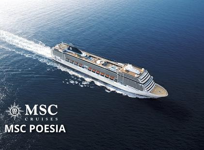 Itálie, Francie z Janova na lodi MSC Poesia
