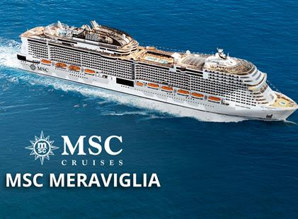 Francie, Itálie z Marseille na lodi MSC Meraviglia