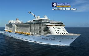 USA, Svatý Martin, Antigua a Barbuda, Svatá Lucie, Barbados, Svatý Kryštof a Nevis z Cape Liberty na lodi Anthem of the Seas