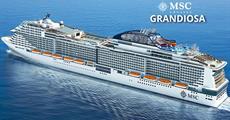 Itálie, Malta, Španělsko, Francie z Civitavecchia na lodi MSC Grandiosa
