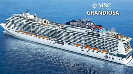 Itálie, Malta, Španělsko, Francie z Palerma na lodi MSC Grandiosa