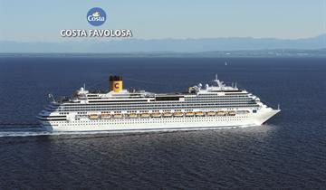Brazílie ze Santosu na lodi Costa Favolosa