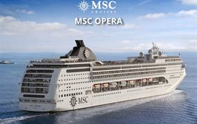 Mexiko, Kuba, Svatý Martin, Antigua a Barbuda, Portugalsko, Španělsko, Malta, Chorvatsko, Itálie z Cozumelu na lodi MSC Opera