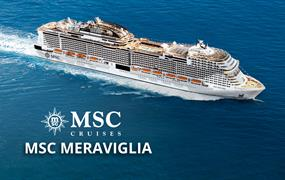 USA, Jamajka, Kajmanské ostrovy, Mexiko, Bahamy, Honduras, Belize z Miami na lodi MSC Meraviglia