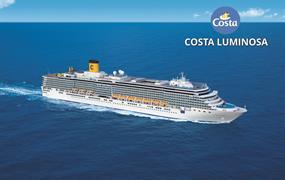 USA, Antigua a Barbuda, Španělsko, Francie, Itálie, Chorvatsko na lodi Costa Luminosa