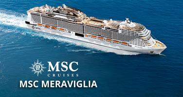 USA, Jamajka, Kajmanské ostrovy, Mexiko, Bahamy z Miami na lodi MSC Meraviglia