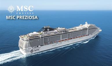 Německo, Francie, Velká Británie, Korunní závislé území Velké Británie, Portugalsko, Španělsko, Nizozemsko ze Southamptonu na lodi MSC Preziosa ****